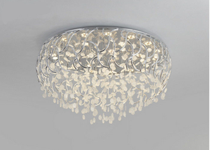 Round Warm Round Crystal Pendant Lighting Led Lights For Bedroom Ceiling